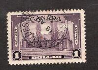 #245  - Canada -  1938  -  $1  - Used  -   VF - superfleas