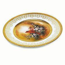"Vintage 1980's 6"" Limoges France Patti Canaris Songbird Cardinals Kern Plate"