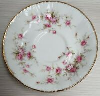 English Paragon Victoriana Rose Pattern Bone China Saucer c1981-90