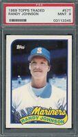 Randy Johnson Seattle Mariners 1989 Topps Traded Baseball Rookie Card #57T PSA 9