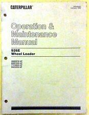 1989 CATERPILLAR OPERATION & MAINTENANCE MANUAL 926E WHEEL LOADER