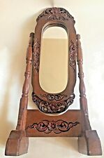 VINTAGE WOODEN CARVED OPEN WORK DRESSING VANITY TABLE MIRROR
