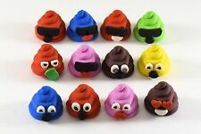 Emoji Party Favors Poo Poop Erasers Kids Birthday Loot Bag Filler Pinata Goody