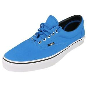Vans Era Off The Wall Women's Lace Up Canvas Trainers Shoes 9YG Blue UK Size 4