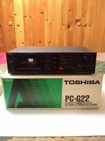 Vintage Toshiba Stereo Cassette Deck PC-G22 with Box and Manual Made in Japan