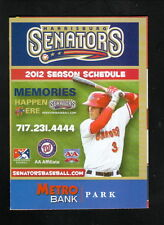 Bryce Harper--2012 Harrisburg Senators Schedule--Sleepy's