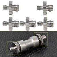"5Pcs 1/4"" to 3/8"" Male Threaded Screw Adapter for Camera Tripod Monopod Ballhead"