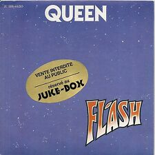 "45 TOURS / 7"" SINGLE JUKE BOX--QUEEN--FLASH / FOOTBALL FIGHT--1980"