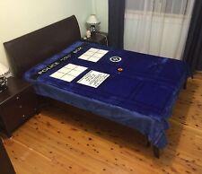 Super Soft Deluxe Double Sz Mink Blanket Quilt Comforter - Dr Doctor Who Tardis