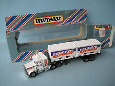 Matchbox Convoy Peterbilt Container Truck Federal Express Fedex Toy Model Boxed