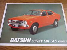 DATSUN SUNNY 120Y GLS SALOON SALES BROCHURE 1977 jm