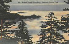 VTG POSTCARD CLOUDS GREAT SMOKY MOUNTAINS NATIONAL PARK TENNESSEE ~ UNUSED / A66
