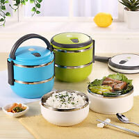 2Layers. Stainless Steel Bento Lunch Box Portable Thermal Insulation Lunch Box /