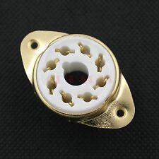 10PCS Gold Plated 6336 GZ34 7199 6550 6F6 KT88 6L6 EL37 8PIN PCB Tube sockets