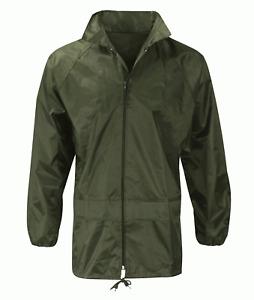 Black Knight Waterproof Rain Jacket Olive Green Sizes M,L,XL,XXL