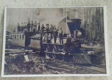 "1877 Engine No.7 Big Rapids Michigan Work Train Ashton Station 6""x4"" Postcard"