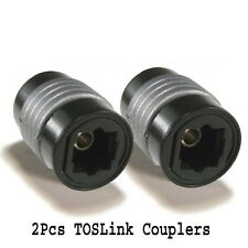 2x TOSLink Coupler Digital Optical Audio Cable Connector Joiner Adapter Extender