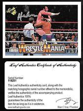 2017 Leaf Buybacks Wrestling '90 Classic WWF #82 Haku On Card Autograph COA