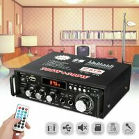 600W Mini Bluetooth Audio Amplifier Receiver Stereo Power Amp Remote USB Player