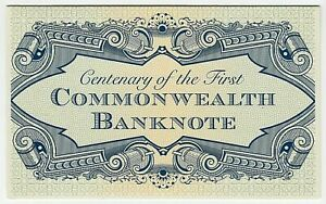 2013 STAMP PACK 'CENTENARY FIRST COMMONWEALTH BANKNOTE' MNH STAMPS & MINI SHEET