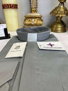 Luxury Cotton Short Sleeved Clergy Clerical Shirts - Italian Finest - Free £5