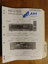 Kenwood kr-v7010 service manual original repair book stereo a/v receiver tuner