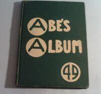 1949 ABE'S ALBUM YEARBOOK (Rockford, Illinois) (Hardcover)