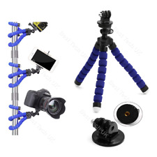 Blue ISAW EDGE Action Camera Flexible Tripod Gorilla Octopus Mount Stand