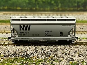 N Scale-MTL 92050 Norfolk & Western 2-Bay ACF Centerflow Hopper N&W 180783 N4125