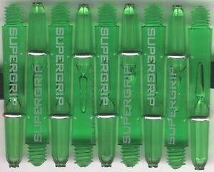 1.5in. 2ba Green HARROWS SUPERGRIP Dart Shafts & Springs: 1 set of 3