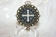Bronze Rosary Center Part/Color/Rosary Making/Black St. Benedict Medal