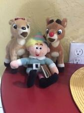 "Rudolph, Clarice, and Hermey Dentist 7"" Plush Toys - Just Reduced!"