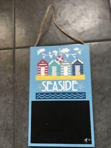 Nautical Blackboard Notice  Board Seaside Blue New