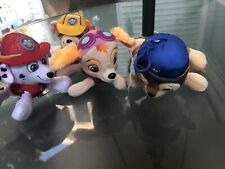 PAW PATROL PLUSH COIN PURSE Lot Of 4 Marshall Sky Chase Ruble NWT Nickelodeon