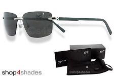 Montblanc Rimless Unisex Sunglasses Light Grey_Gunmetal_Dark Smoke MB 465T/S 14A