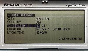 Sharp Wizard OZ-770 3MB Organizer Backlight (Display Has Lines) No Power Adapter