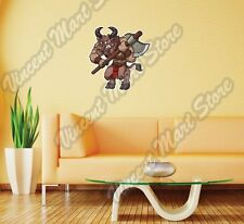 """Minotaur Axe Bull Angry Mythology Gift Wall Sticker Room Interior Decor 20""""X25"""""""