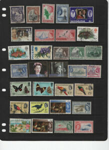 BRITISH COLONIES QUEEN ELIZABETH 3 SCANS MOSTLY USED