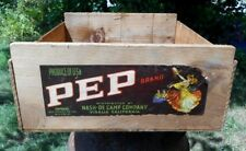 Vintage PEP BRAND EMPERORS Wooden Fruit Crate Box Label  Vermont Barn Find