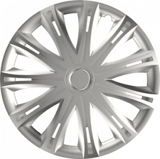 "PEUGEOT 207 14"" 14 INCH CAR VAN WHEEL TRIMS HUB CAPS SILVER"