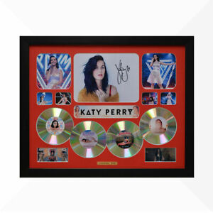 Katy Perry Signed & Framed Memorabilia - 4 CD - Red - Limited Edition