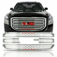 2015-2020 GMC Yukon XL CHROME Snap On Grille Overlay Grill Covers Inserts