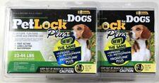 2 Packs PetLock Plus For Dogs 23 To 44 Lbs Kill Flea Egg Larvae & Lice 3 Doses