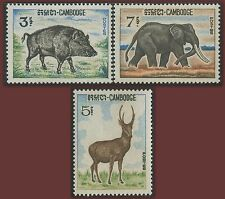 CAMBODGE N°184/186* Sanglier, Cerf, Elephant 1966, Animals Sc#169-171 MLH