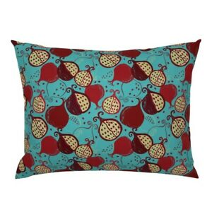 Pomegranate Tropical Fruits Blue Seeds Fruit Half Juicy Pillow Sham by Roostery