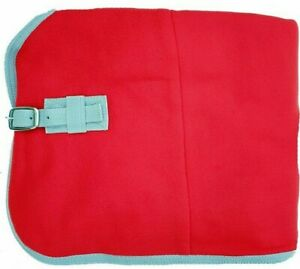 Abschwitzdecke Fleece 115cm rot Contest Pferde-Transportdecke bestickbar