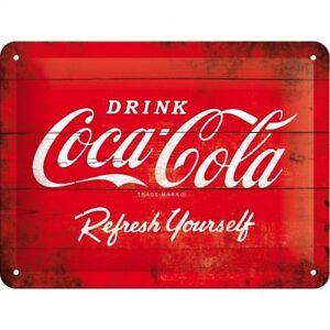 Tin Sign 15 x 20 cm - Coca Cola - Red Logo
