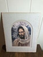 Vintage Portrait of Jesus Christ 11 x 14 Matted Ready-to-Frame Signed K. MAROON