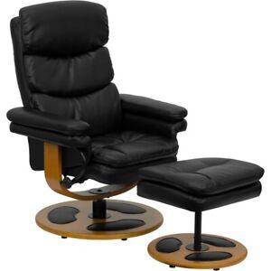 Flash Furniture Black Bonded Leather Recliner, Black - BT-7828-PILLOW-GG