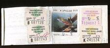 Michigan 1989 Resident Hunting License/ Rw56 + State Stamp -554